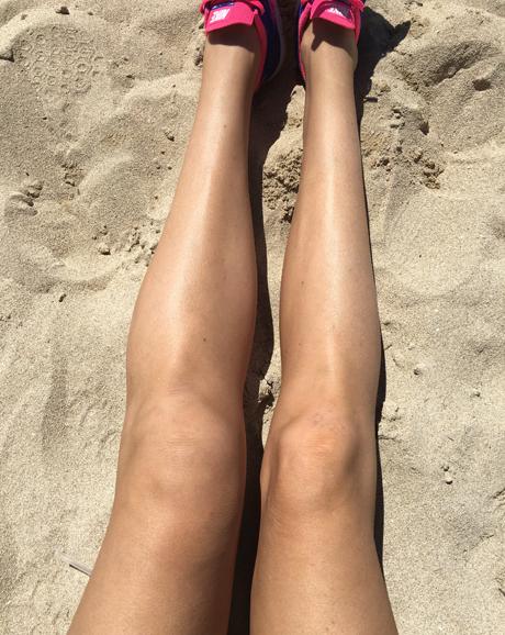 svullet vänster ben